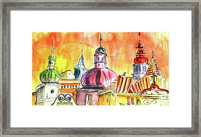 The Magical Roofs Of Prague 01 Bis Framed Print by Miki De Goodaboom