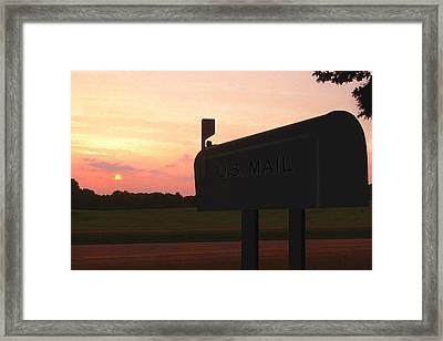 The Mail Of Old Framed Print by Mike McGlothlen