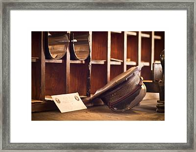 The Mailman Framed Print by Carolyn Marshall