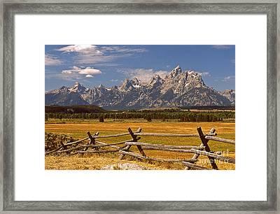 The Majestic Tetons Framed Print by Joe Elliott