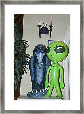 The Maltese Alien Framed Print by Richard Henne