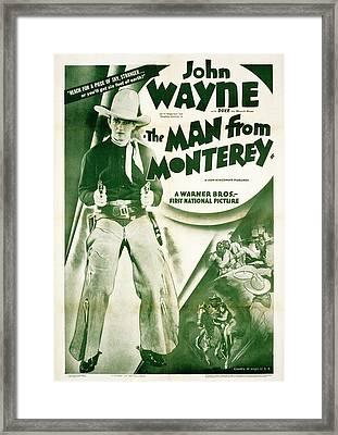 The Man From Monterey, John Wayne, 1933 Framed Print by Everett