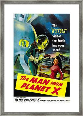 The Man From Planet X, Pat Goldin Framed Print by Everett