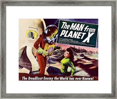 The Man From Planet X, Pat Goldin Title Framed Print by Everett