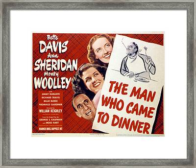 The Man Who Came To Dinner, Jimmy Framed Print by Everett