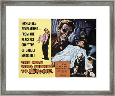 The Man Who Turned To Stone, Victor Framed Print by Everett
