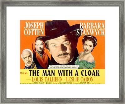 The Man With A Cloak, Louis Calhern Framed Print by Everett
