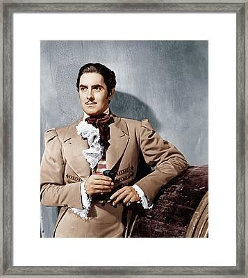 The Mark Of Zorro, Tyrone Power, 1940 Framed Print by Everett