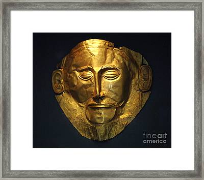 The Mask Of Agamemnon Framed Print by Bob Christopher