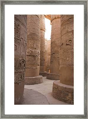 The Massive Columns In The Hypostyle Framed Print by Taylor S. Kennedy