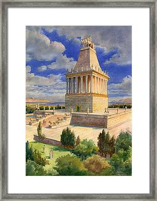 The Mausoleum At Halicarnassus Framed Print by English School