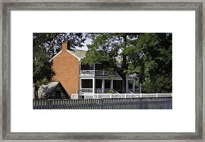 The Mclean House In Appomattox Virgina Framed Print by Teresa Mucha
