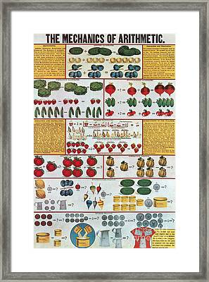 The Mechanics Of Arithmetic Framed Print by Science Source