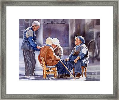 The Meeting Place Framed Print by Sharon Freeman