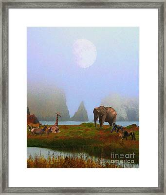 The Menagerie . Painterly Framed Print by Wingsdomain Art and Photography