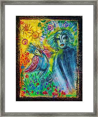 The Messanger Framed Print by Mimulux Patricia No