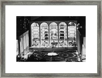 The Metropolitan Opera House, Lincoln Framed Print by Everett
