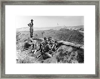 The Mexican Revolution. American Framed Print by Everett
