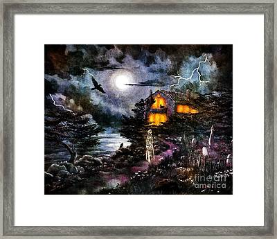 The Midnight Dreary Framed Print by Laura Iverson