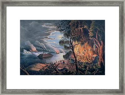 The Mississippi In Time Of War Framed Print by Frances Flora Bond Palmer