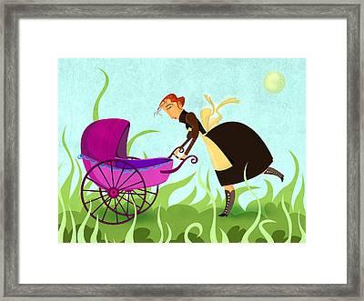 The Mom Framed Print by Autogiro Illustration