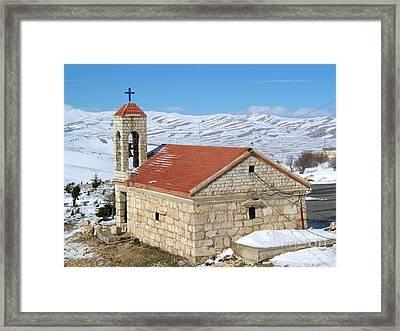 The Monastery Of Sheirobeem Framed Print by Issam Hajjar