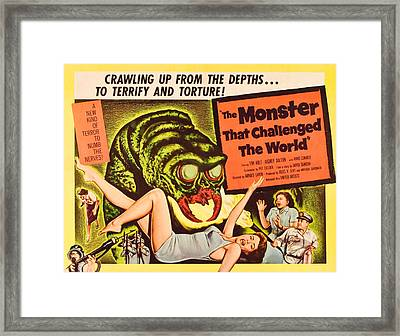 The Monster That Challenged The World Framed Print by Everett