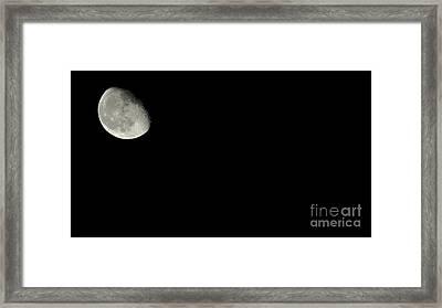 The Moon Framed Print by Kodjo Somana