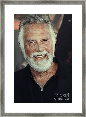 The Most Interesting Man In The World Framed Print by Nina Prommer