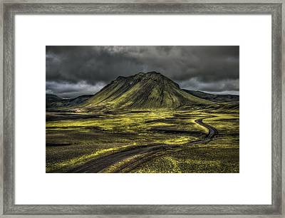 The Mountain Pass Framed Print by Evelina Kremsdorf