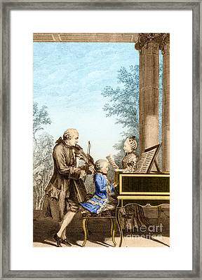 The Mozart Family On Tour 1763 Framed Print by Photo Researchers