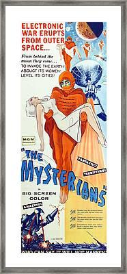 The Mysterians, Insert Poster Art, 1957 Framed Print by Everett