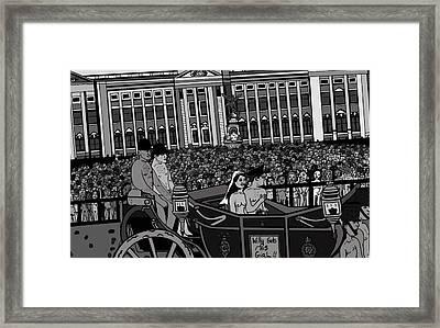The Naked Royal Wedding 2 Framed Print by Karen Elzinga