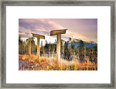 The Names Of The Mountains Framed Print by Tara Turner