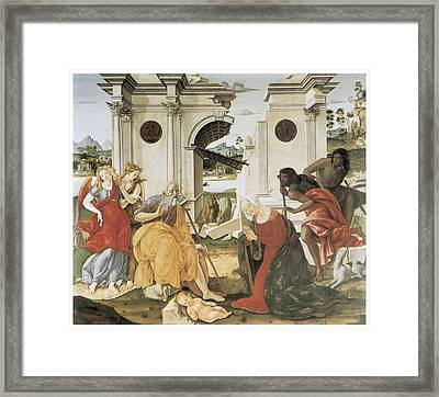 The Nativity Framed Print by Francesco Di Giorgio Martini