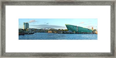 The Nemo Building In Amsterdam Framed Print by Gregory Dyer