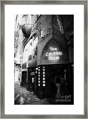 The New Cavern Club In Mathew Street In Liverpool City Centre Birthplace Of The Beatles Framed Print by Joe Fox