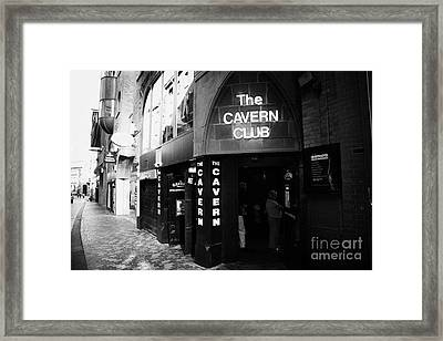 The New Cavern Club In Mathew Street In Liverpool City Centre Birthplace Of The Beatles Merseyside Framed Print by Joe Fox