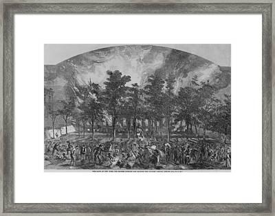 The New York City Draft Rioters Burned Framed Print by Everett