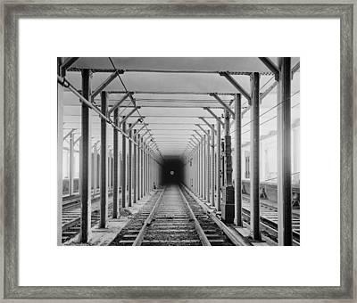 The New York City Subway Tracks Framed Print by Everett