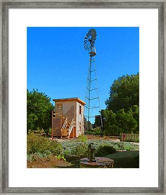 The Oid Pump House Framed Print by Timothy Bulone