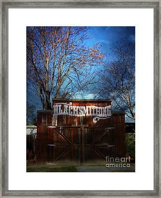 The Old Blacksmith . 7d12956 Framed Print by Wingsdomain Art and Photography