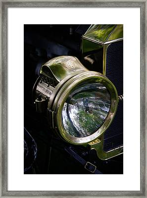 The Old Brass Ford Headlight Framed Print by Steve McKinzie