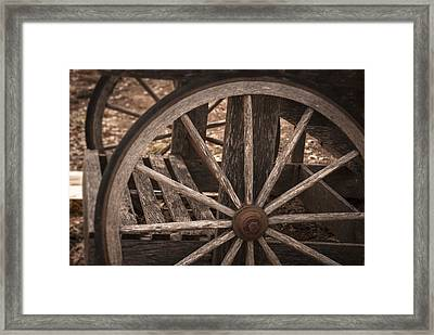 The Old Cart Framed Print by Kelly Rader
