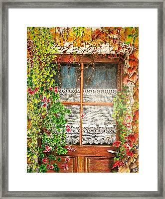 The Old Door Framed Print by Jeanette Schumacher