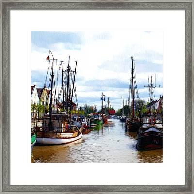 The Old Harbor Framed Print by Steve K