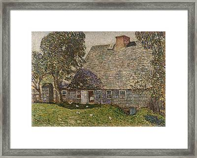 The Old Mulford House Framed Print by Childe Hassam