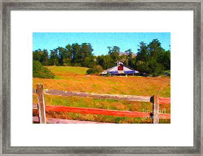The Old Ranch At Midday Framed Print by Wingsdomain Art and Photography