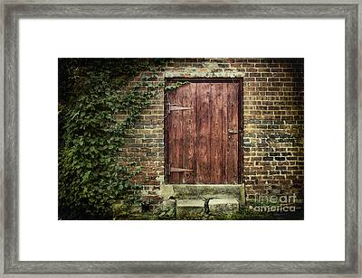 The Old Red Door Framed Print by Sari Sauls