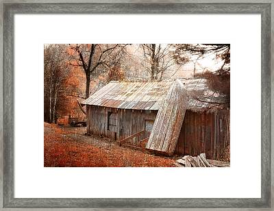 The Old Row Boat Framed Print by Gray  Artus